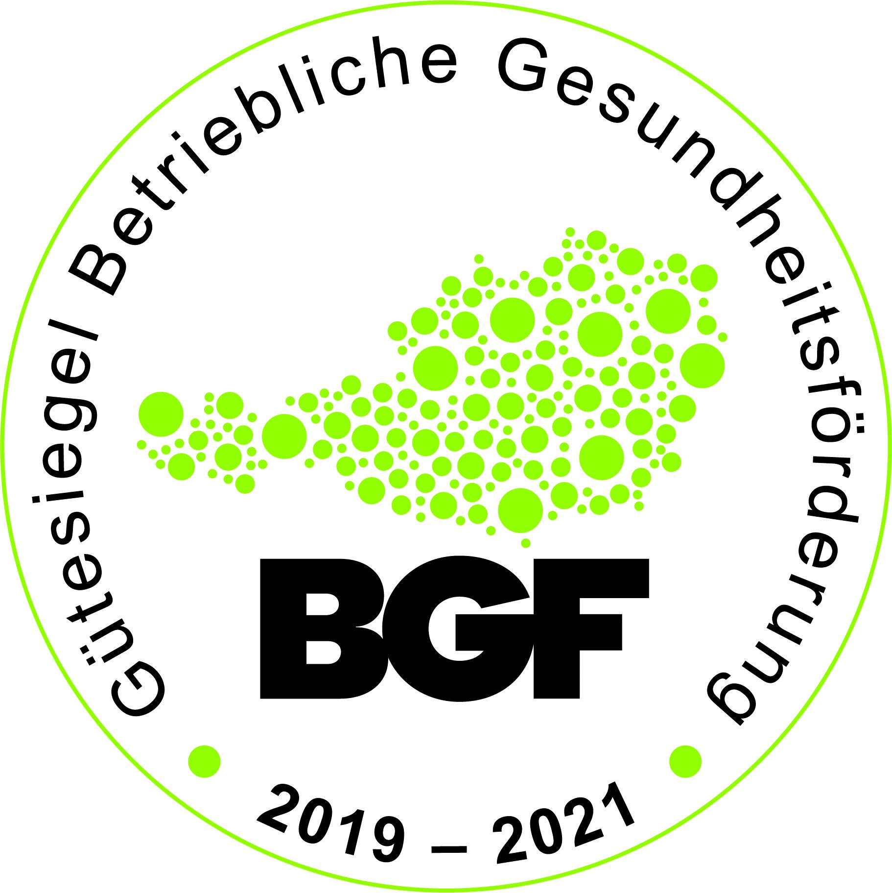 BGF Güstesiegel 2019 - 2021