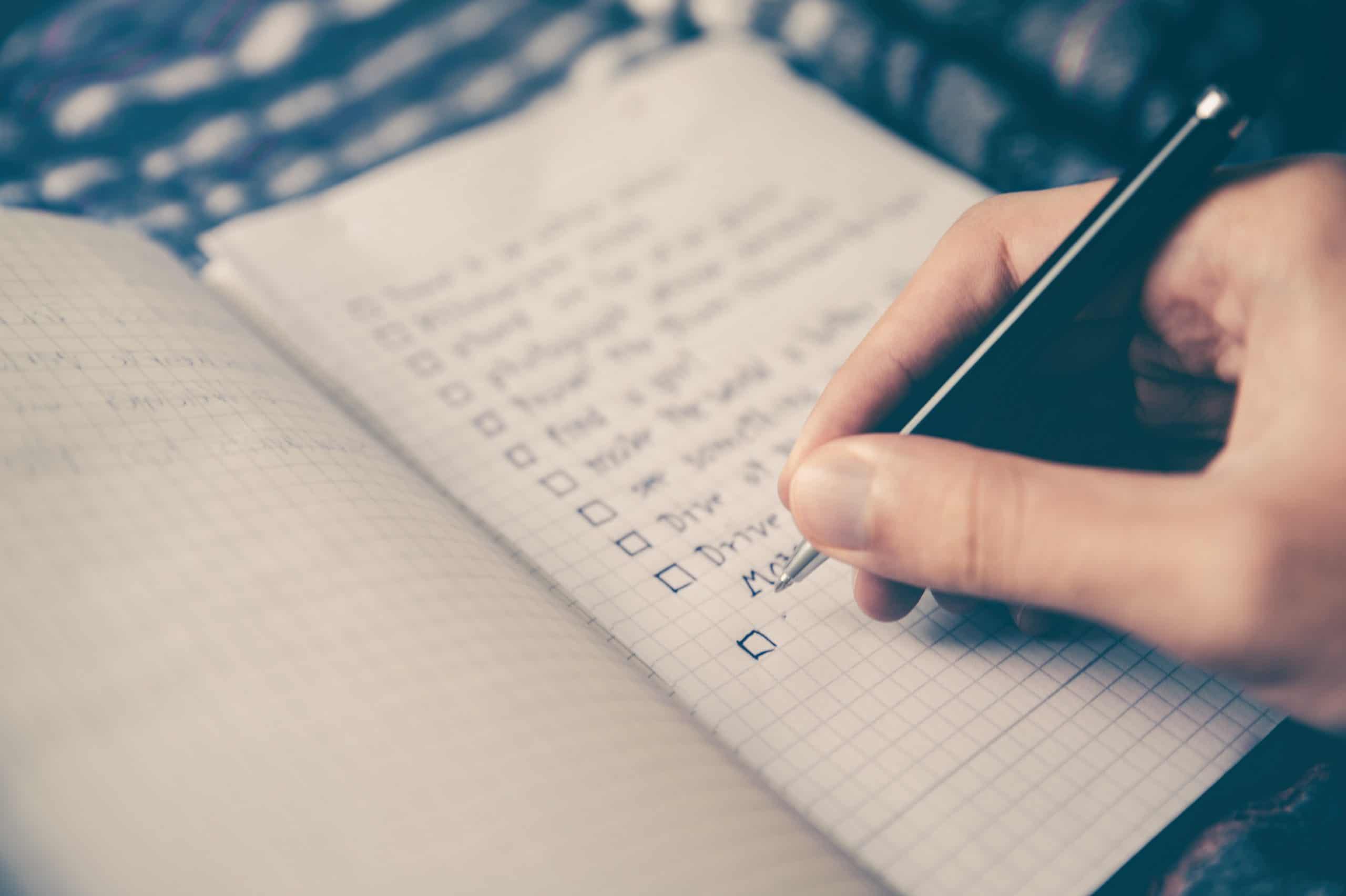 Stress reduzieren durch Journaling