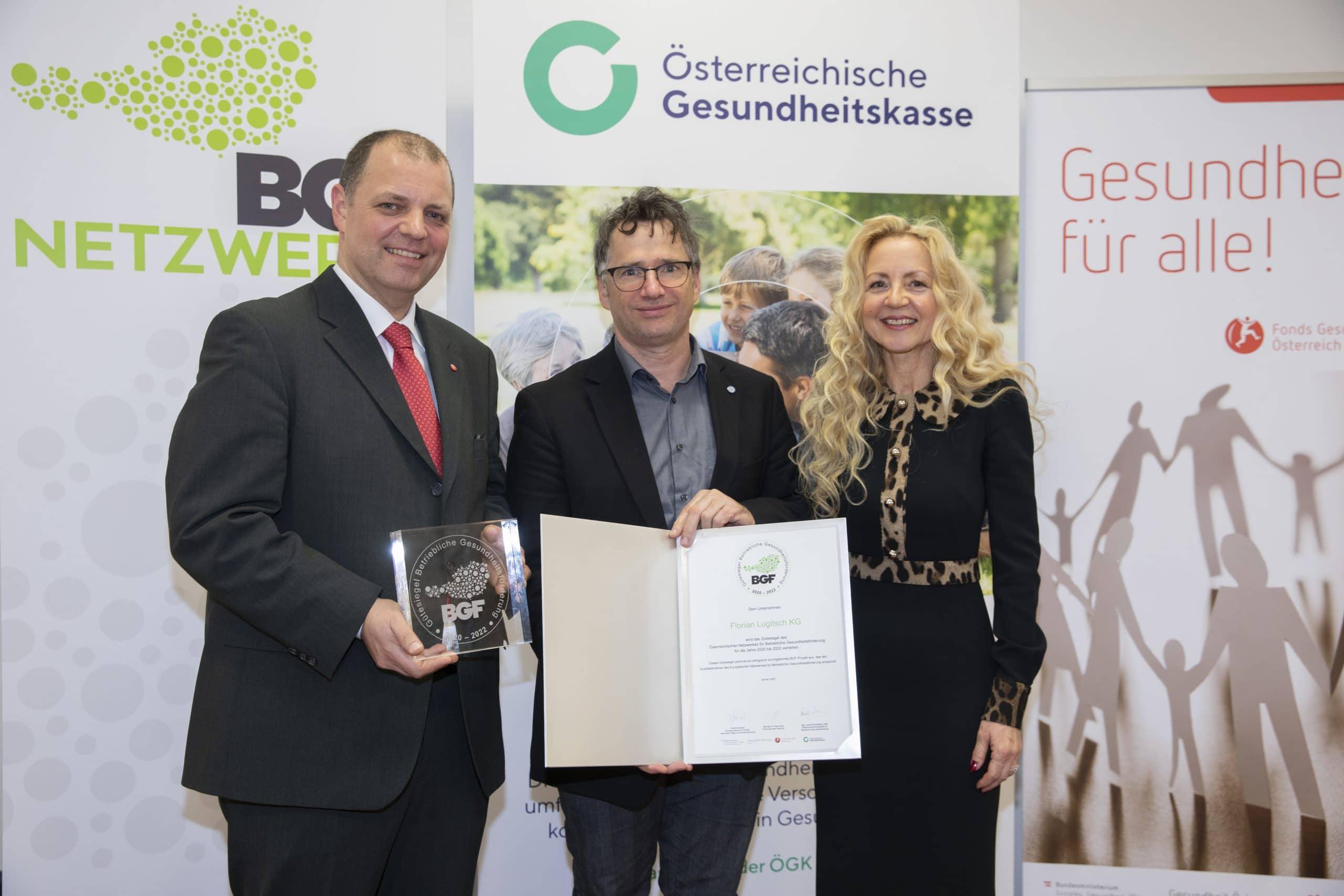 BGF Gütesiegel für Florian Lugitsch KG